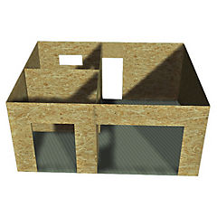 Kit modulo prefabricado 60m2 con cubierta