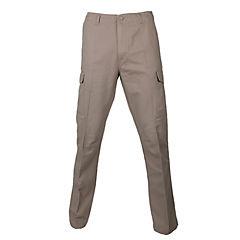 Pantalón cargo gabardina algodón beige 50