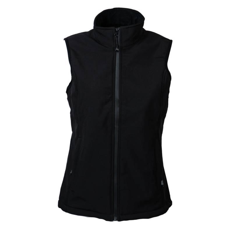 JAYSON - Chaqueta softshell técnico sin mangas mujer negro L