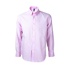 Camisa oxford manga larga rosado medio XL