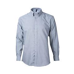 Camisa oxford manga larga pizarra 3XL