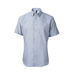 Camisa oxford manga corta pizarra M