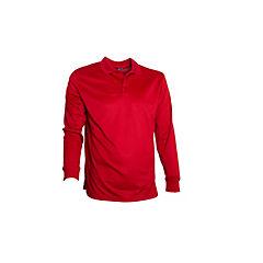 Polera dry fit manga larga hombre rojo XL