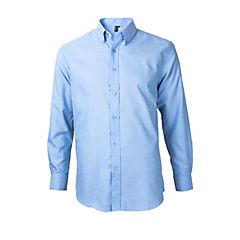 Camisa oxford manga larga celeste melange 3XL