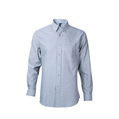 Camisa oxford con bolsillo manga larga pizarra S