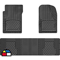 Jueg de Pisos Universales Recortables de 3 piesas negro