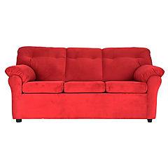 Sofá america 3 cuerpos tela rojo