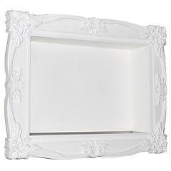 Repisa plástica 30x40 cm blanco