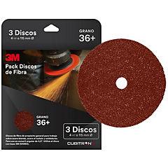 Pack 3 discos fibra grano 36