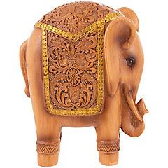 Elefante resina color café de 17 cm