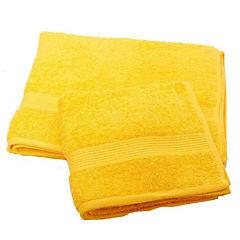Set 2 toallas florentino 100% algodón amarillo