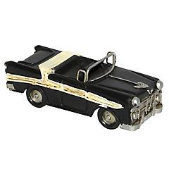 Adorno auto mini metal 11x4,6x4 cm negro