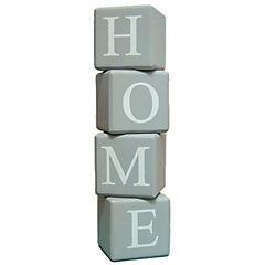 Cubos madera con letras gris 4 unidades
