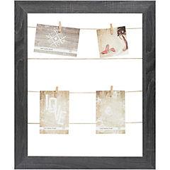 Marco foto 40x50 madera con pinzas café oscuro
