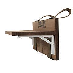 Mesa para baranda de terraza 60 cm nogal plegable