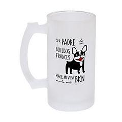 Vaso schopero padre bull dog francés byn