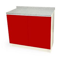 Mueble base 100x50 cm granito rojo alto brillo