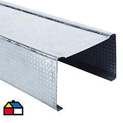 60x38x05mm x2.4 ml Perfil Tabiques Montante Perforado