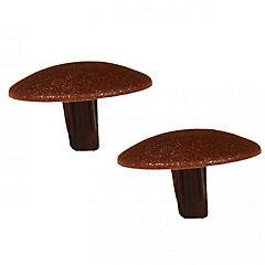 Tapa de tornillo 3 mm 144 unidades Café