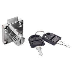 Cerradura para cajón con 2 llaves