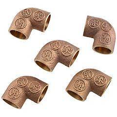 Set de codos SO-SO bronce 3/8