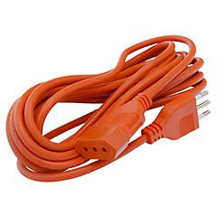 Extensión eléctrica con seguro 5 m Naranjo