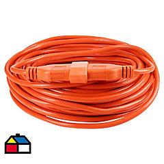 Extensión eléctrica con seguro 20 m Naranjo