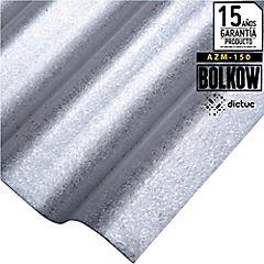 0.30 x 851 x 2500 mm, Plancha Acanalada Onda Toledana Zincalum gris