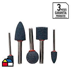 Set de piedras abrasivas 5 unidades