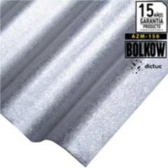 BOLKOW - 0.30 x 851 x 3660 mm. Plancha Acanalada Onda zinc gris Recubrimiento AZM150