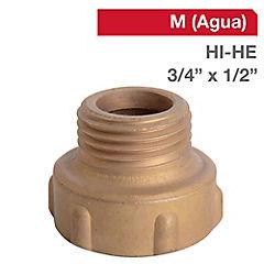 Reducción llave bronce 3/4 HI x 1/2 HE BSP