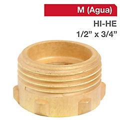 Reducción llave bronce 1/2 HI x 3/4 HE BSP