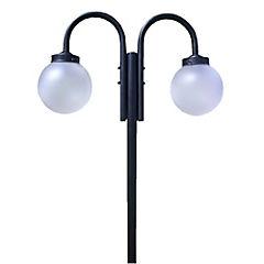 Farol de pie 2 luces 60 W negro