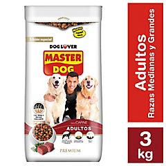Alimento seco para perro adulto 3 kg carne y vegetales