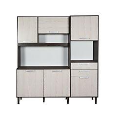 Kit mueble de cocina plata