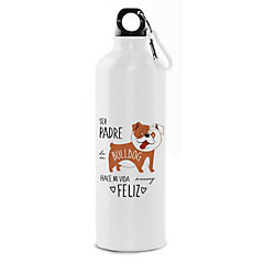 Botella padre bull dog inglés