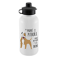 Botella sport padre pitbull café
