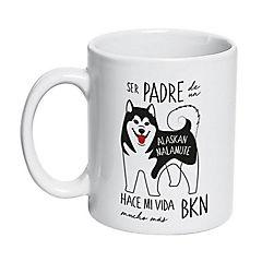 Tazón cerámico padre alaskan malamute