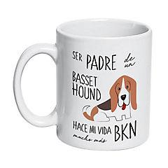 Tazón cerámico padre basset hound