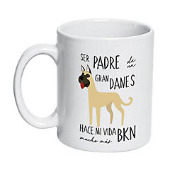 Tazón cerámico padre gran danés café
