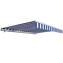 Toldo retráctil 200x290 cm Blanco/Azul