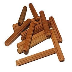 Tarugo de madera estriado 8 mm x 45 mm