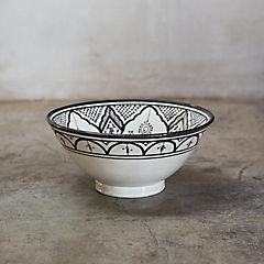 Bowl Marroquí 30,5 cm cerámica negro