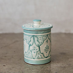 Azucarero Marroquí 8,5 cm cerámica menta