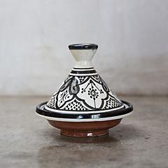 Tajine Marroquí 17 cm cerámica negro