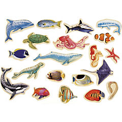 Animal marino madera magnética 20 unidades