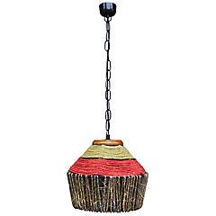 Lámpara de colgar fibras naturales Amber Multicolor