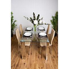 Juego de comedor 4 sillas 150x90 Beige