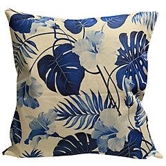 Cojin tropical lino azul 45x45 cm