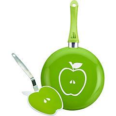 Sartén 24 cm + espatula verde